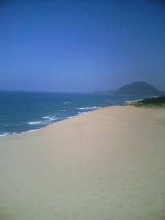 鳥取砂丘の海と空