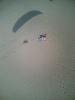 鳥取砂丘のカップル