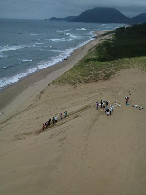 鳥取砂丘のサンドボード