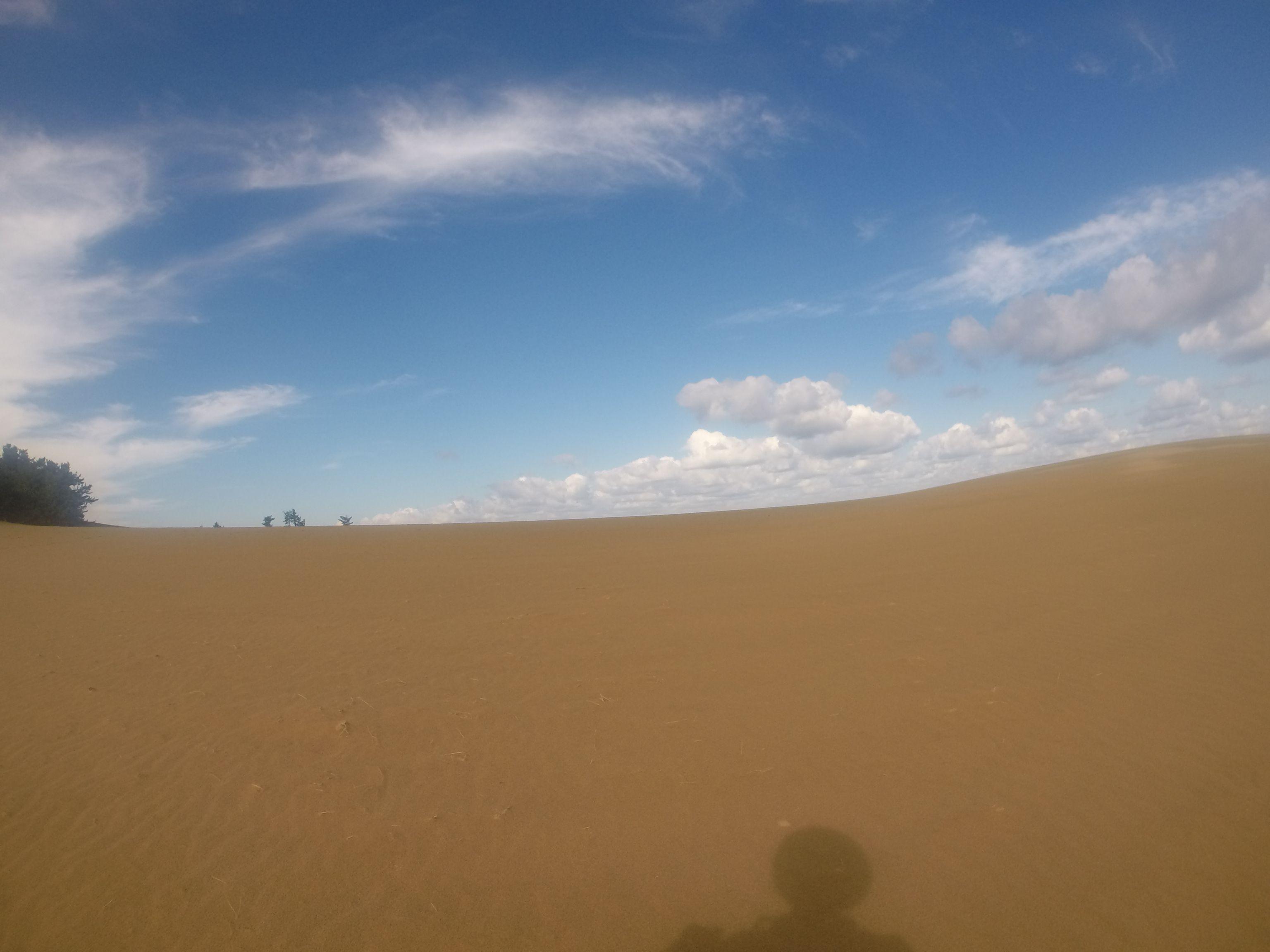 爽やかに晴れ渡った秋の鳥取砂丘