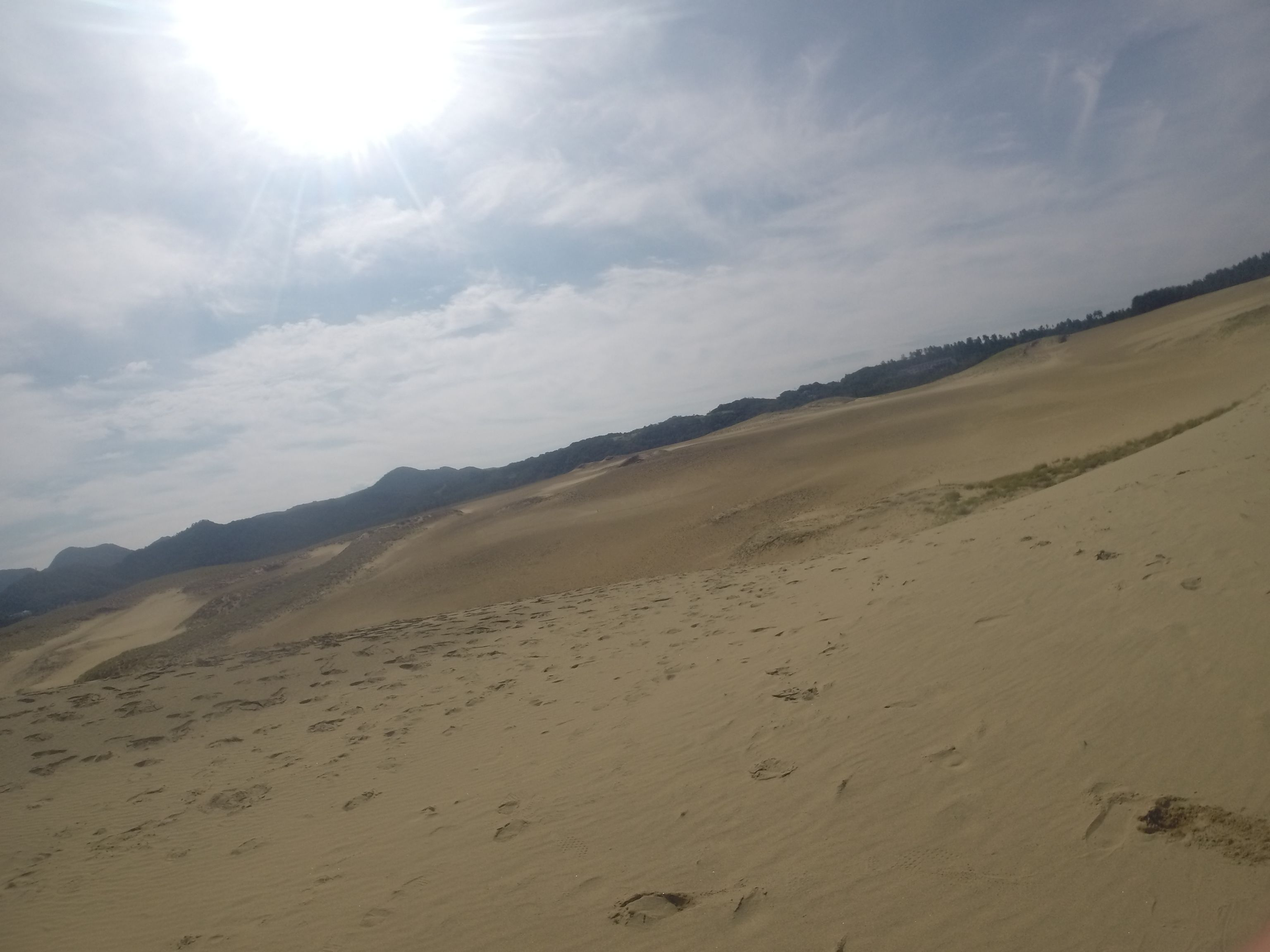 のんびりムードが漂う平日の鳥取砂丘
