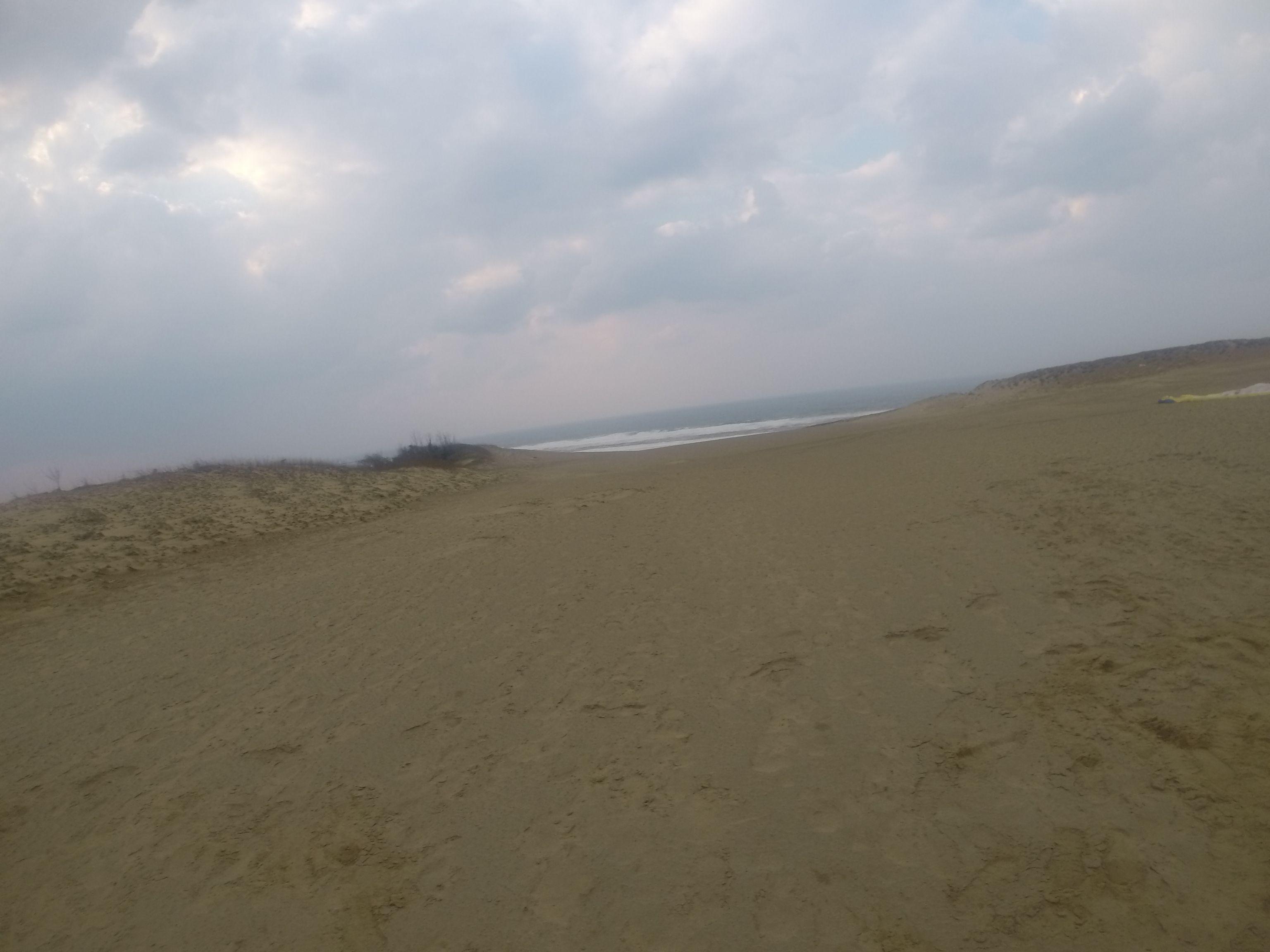 冬みたいに思いっきり寒くなった鳥取砂丘