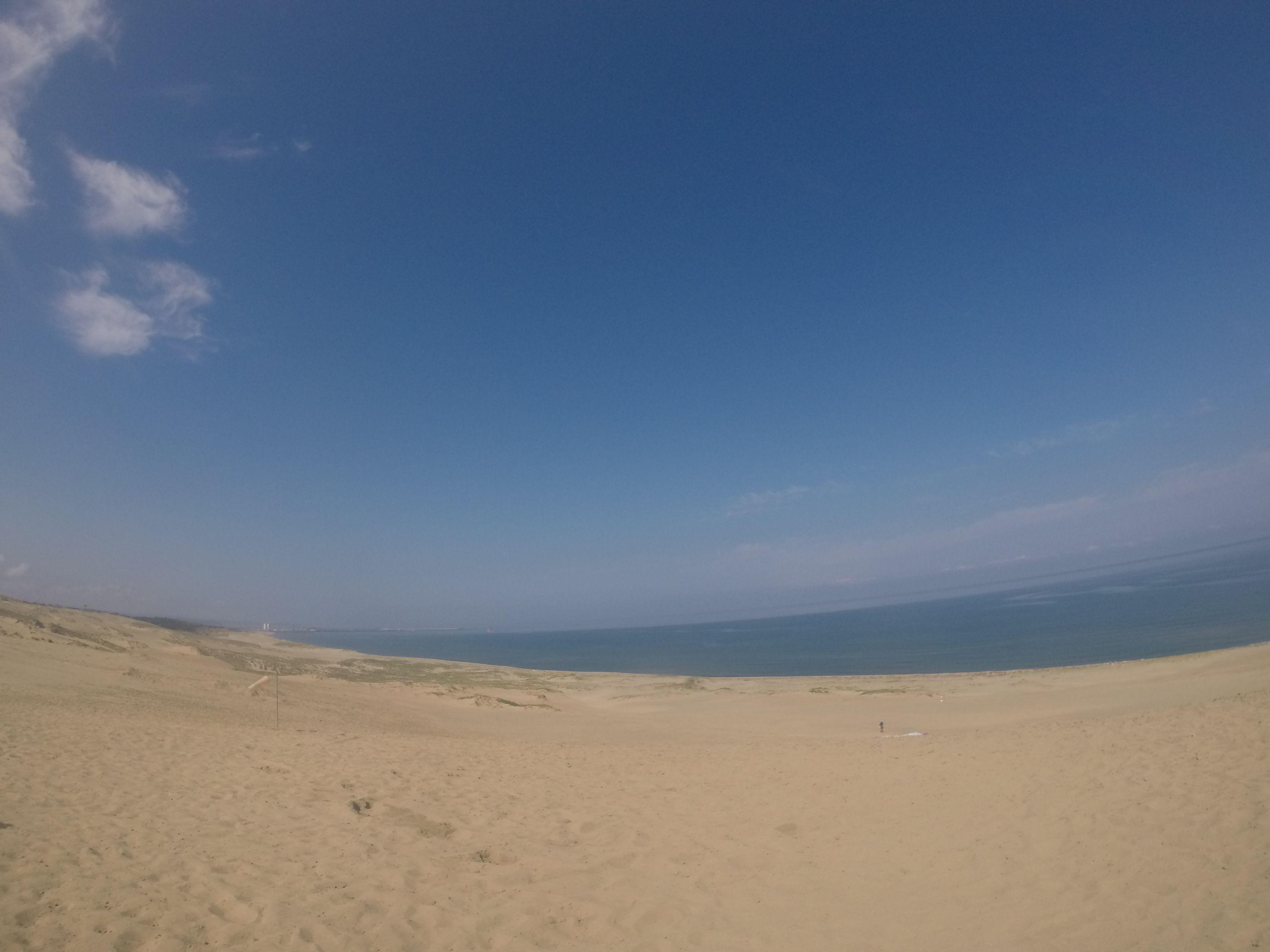 ここ最近では一番の青空となった鳥取砂丘