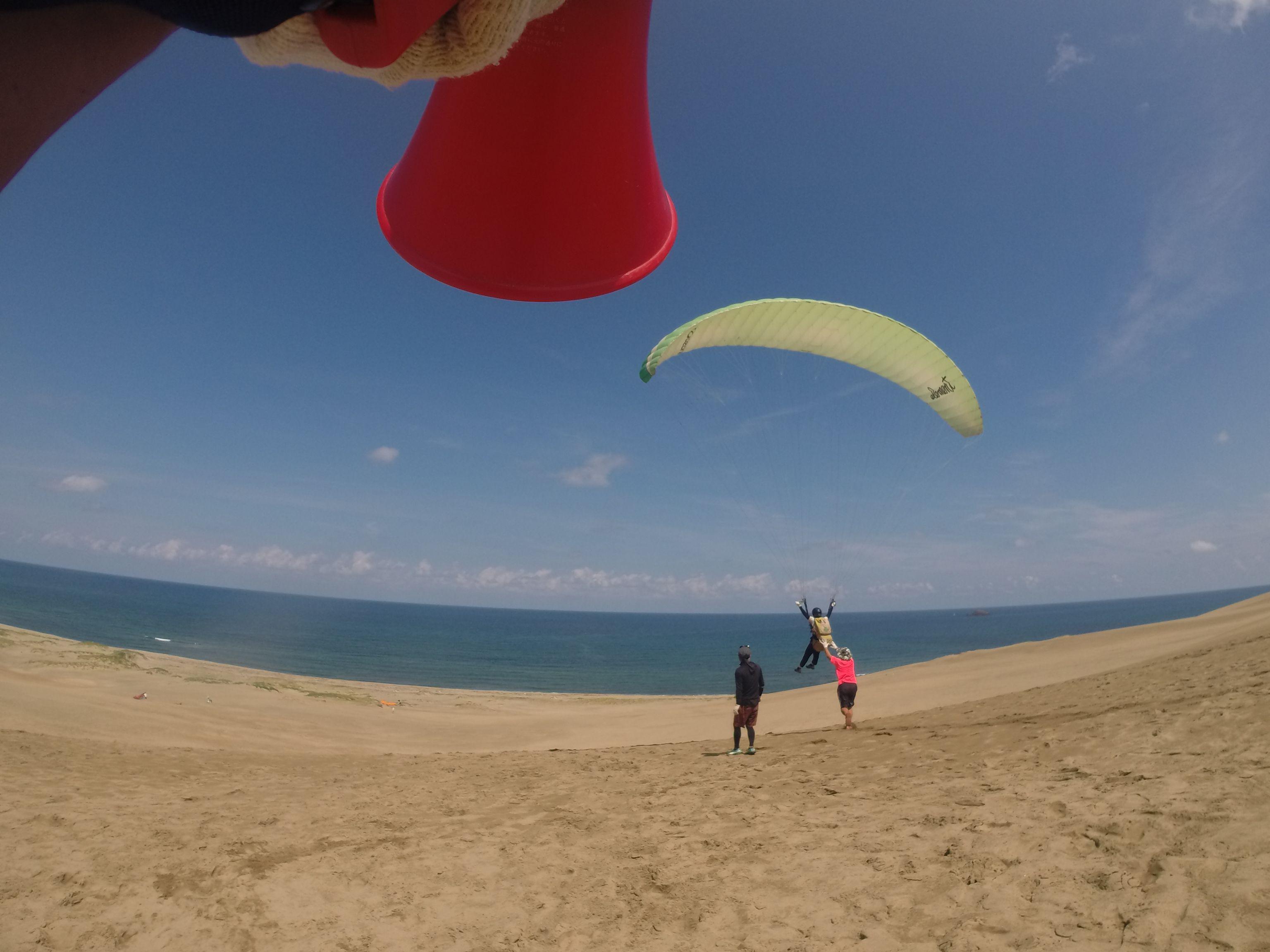 青い青い海と空の風景へ飛び込め