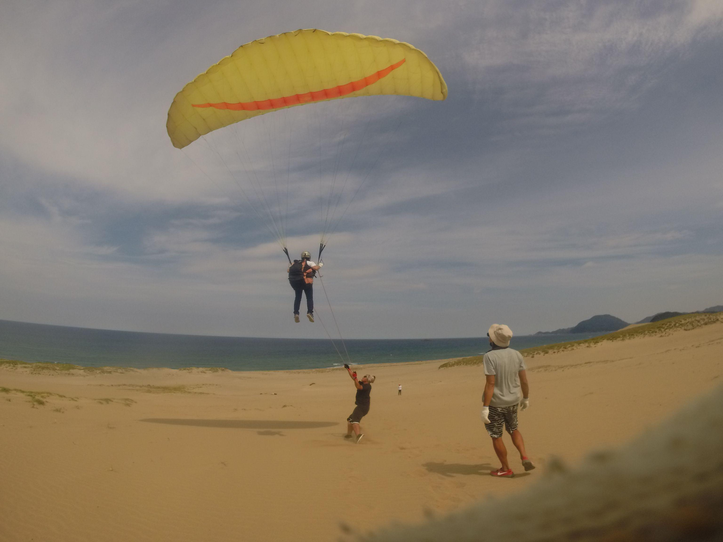 長い時間飛んで鳥取砂丘の空を満喫