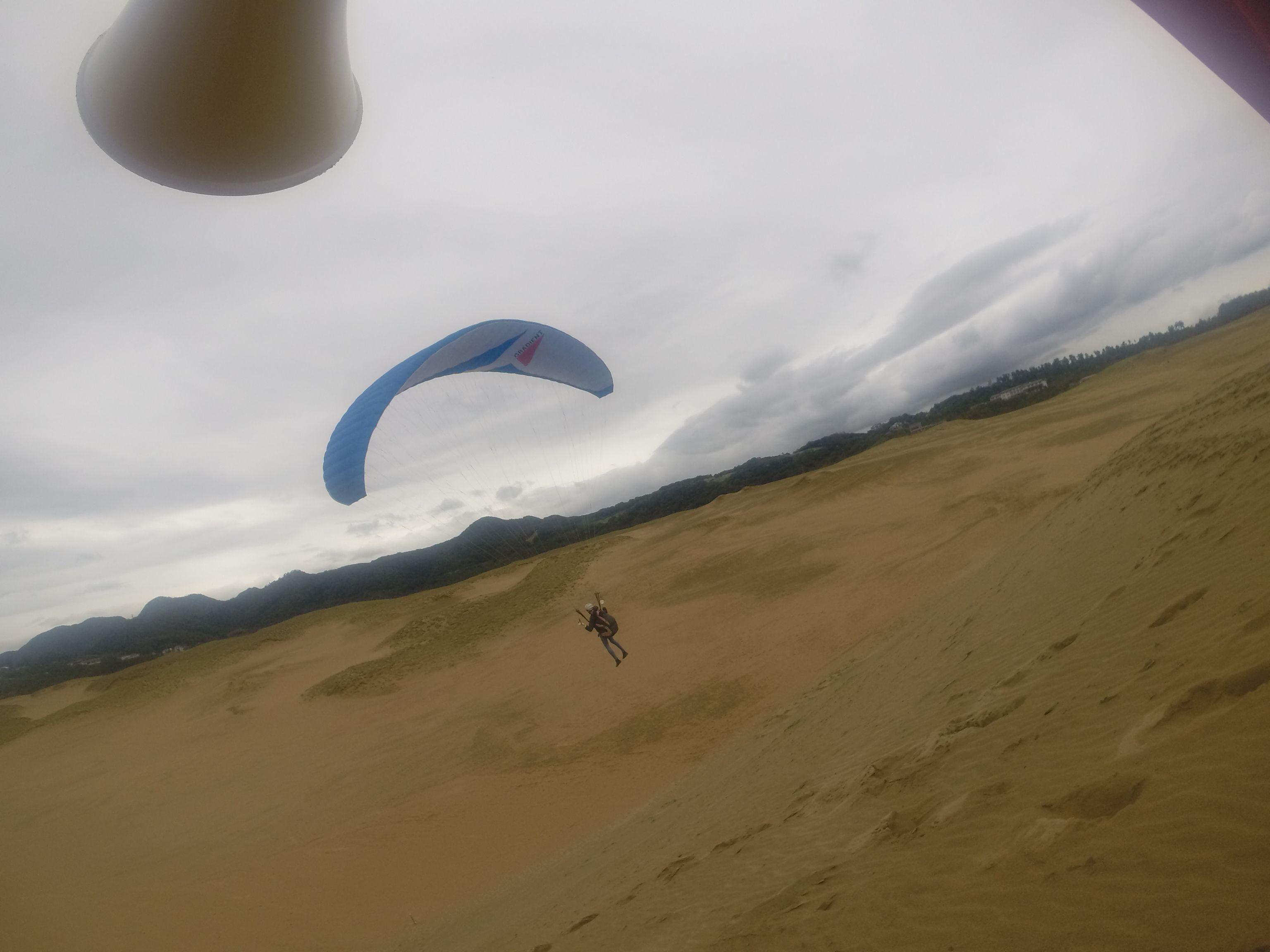 曇り空ながら爽快な空の旅を楽しみました