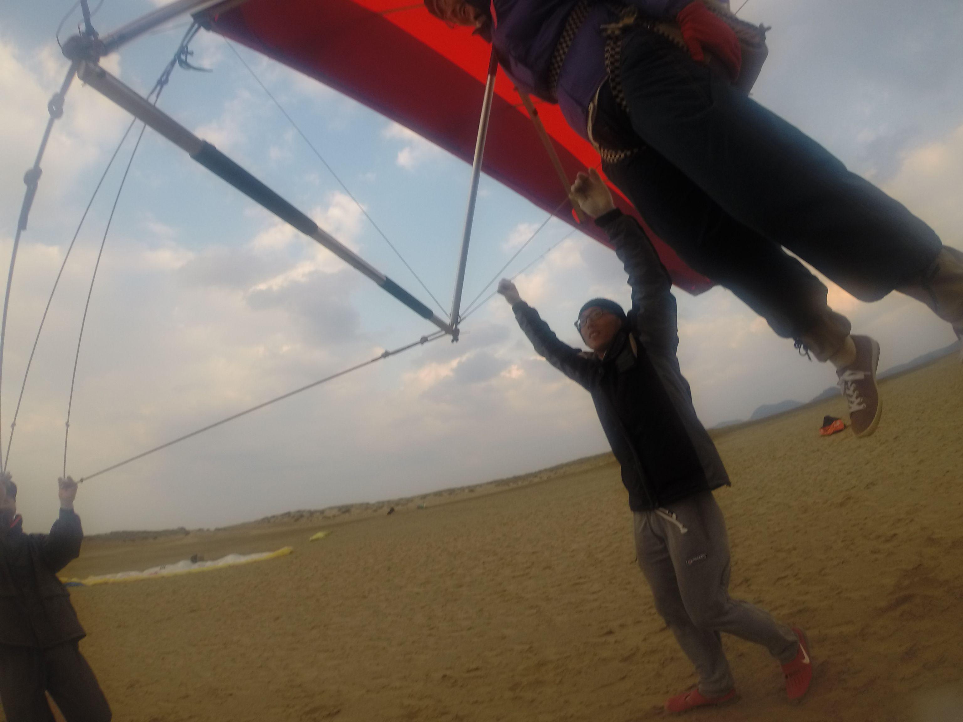 ハンググライダーでまずは簡単に浮くところから