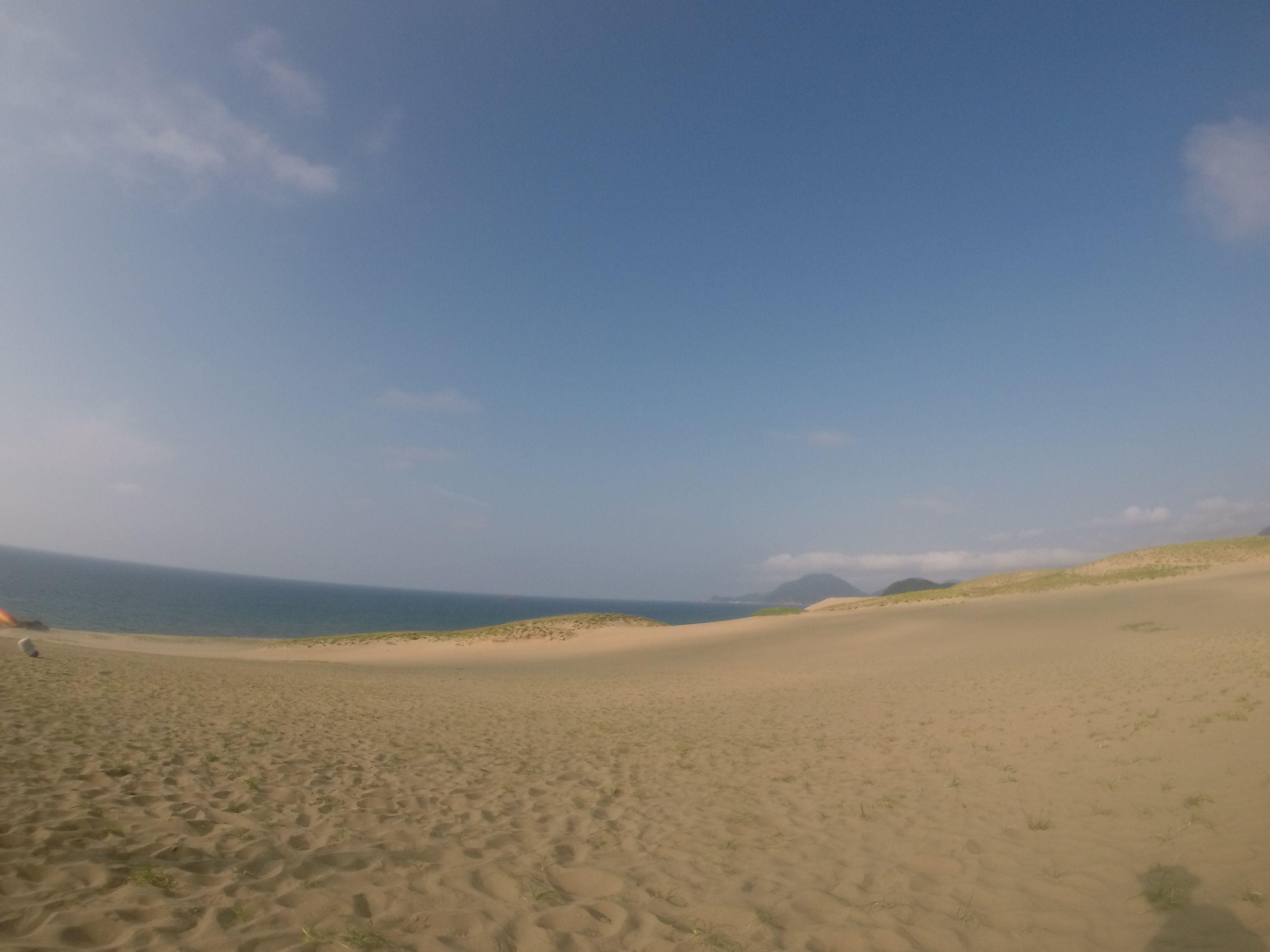 今日も30℃超えの鳥取砂丘