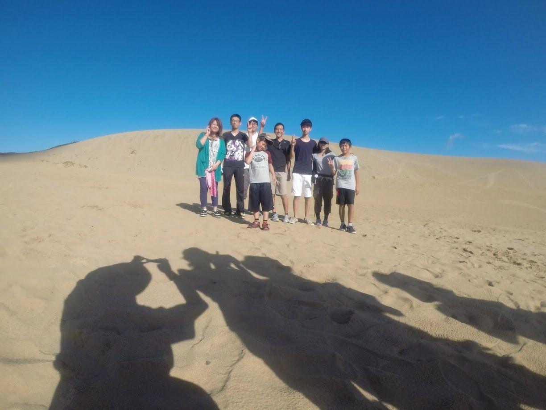 ご家族さんなどが砂丘に集合