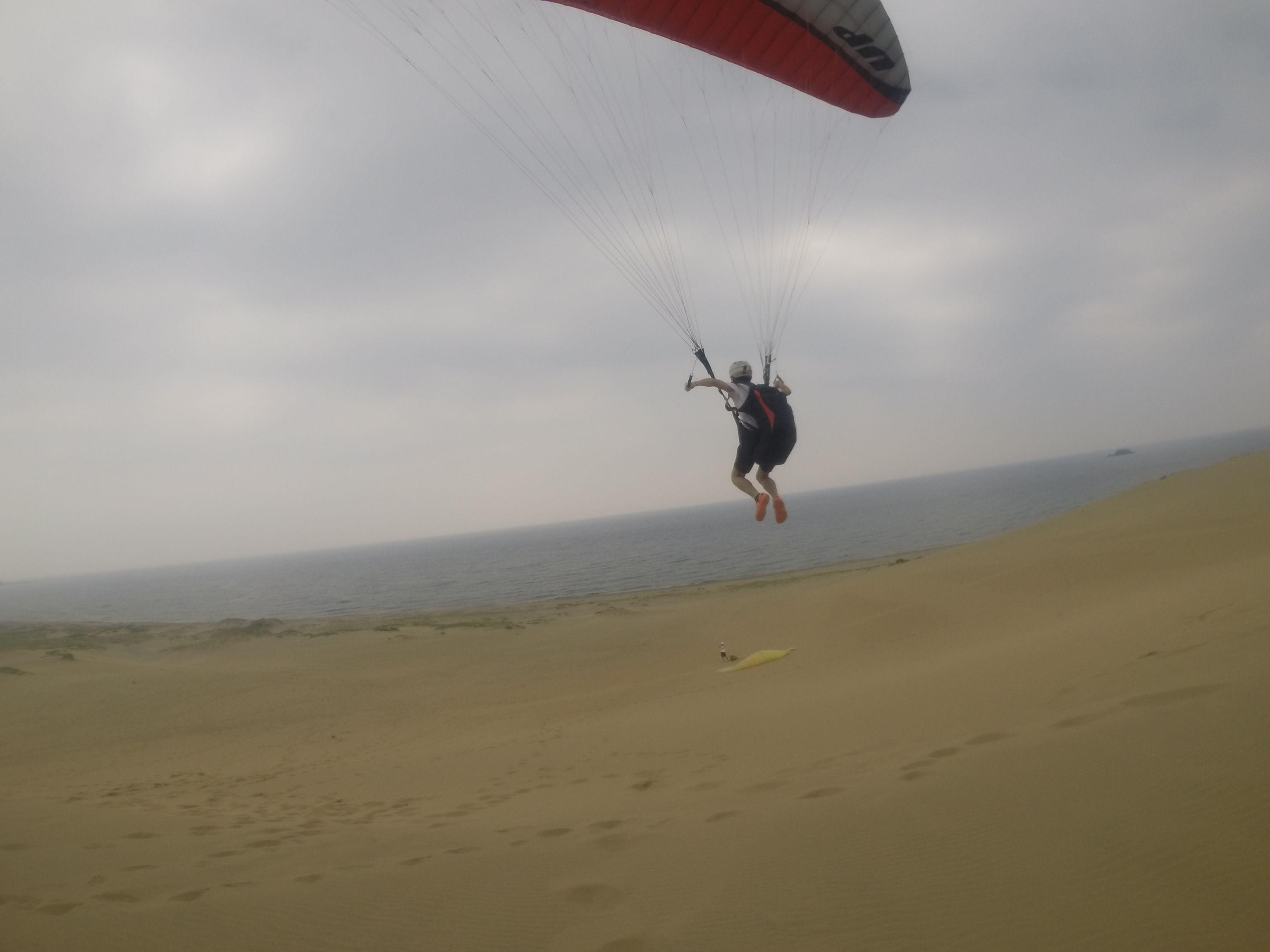 日本海に向かって気持ちよく飛ぶ