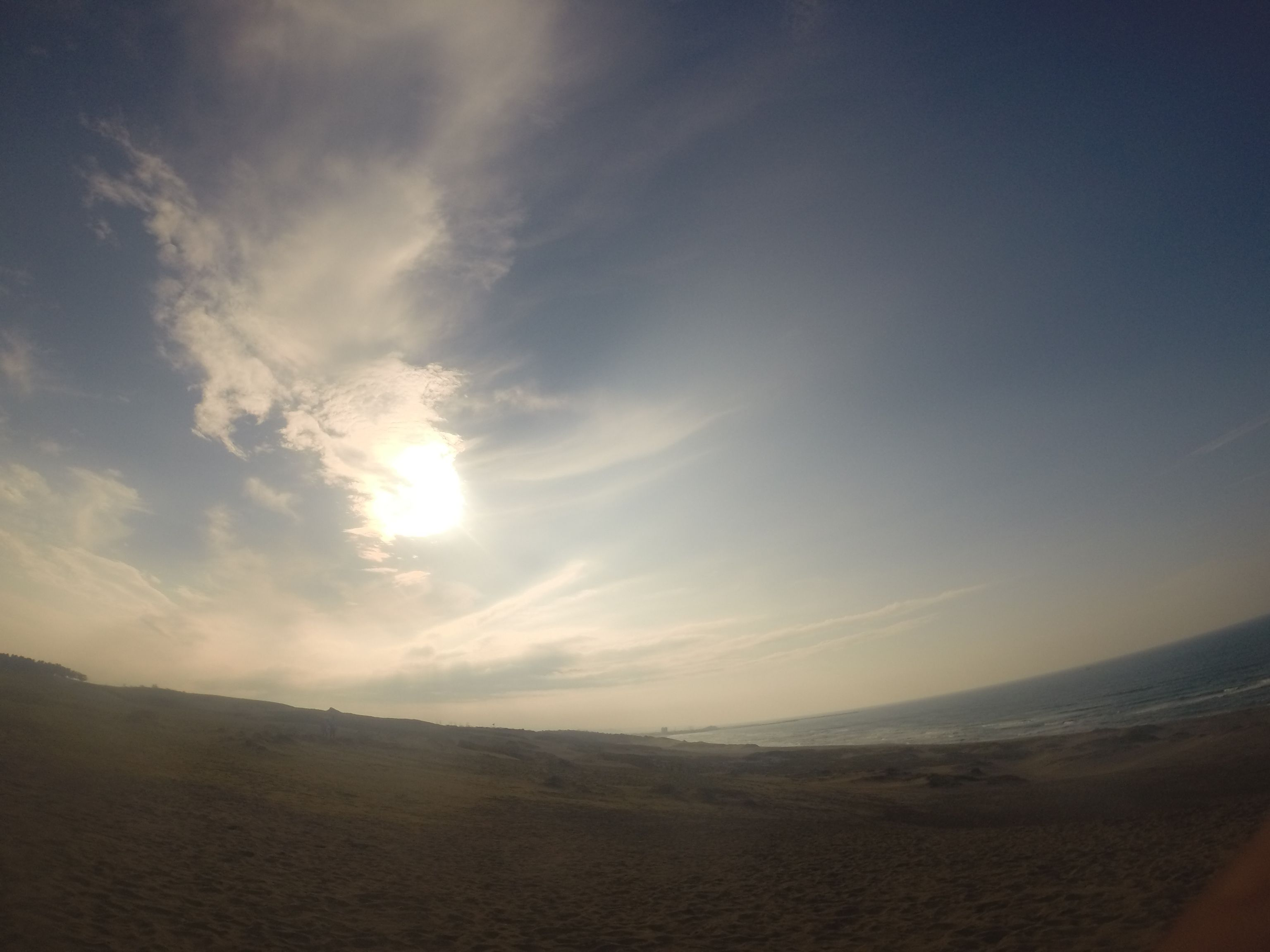 太陽と雲がステキなコラボレーション