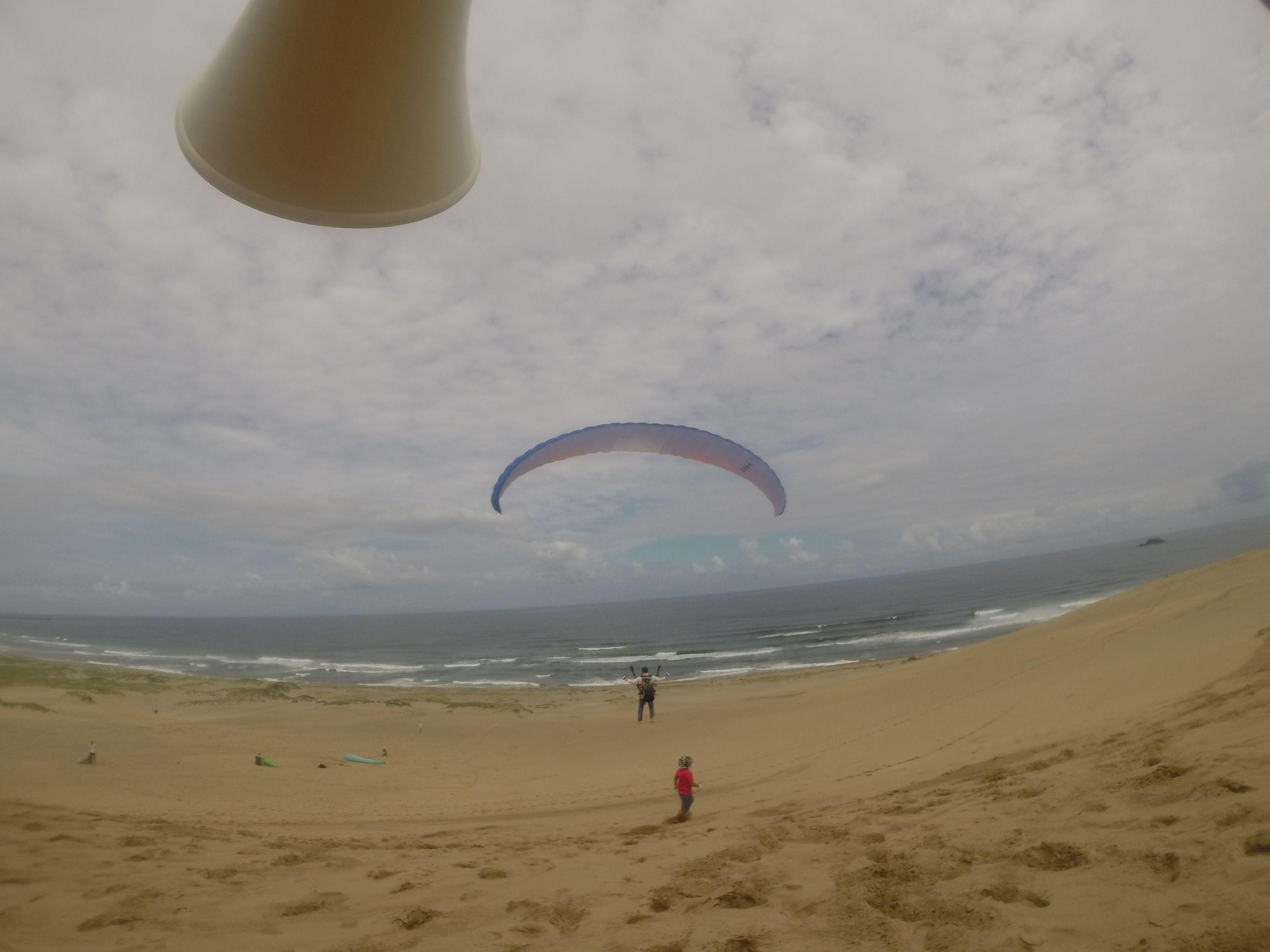 日本海に向けていっぱい風に乗りました