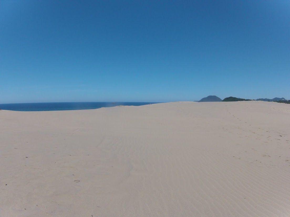 クリアーな視界の鳥取砂丘