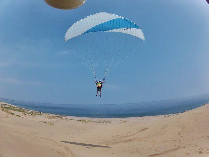 中学生鳥取砂丘パラグライダー