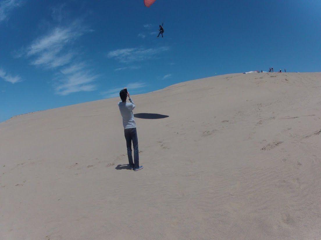 パラグライダー体験を楽しみました