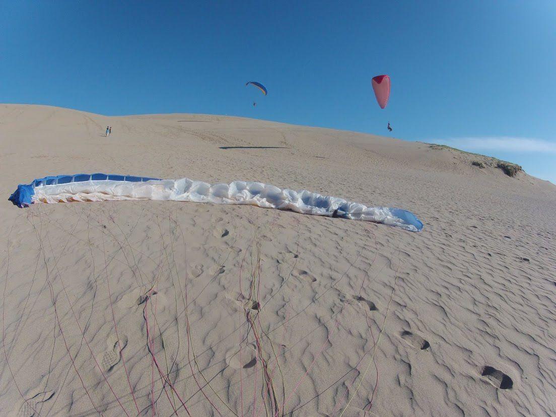 スタッフ砂丘パラグライダー