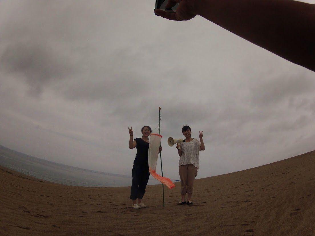 富山姉妹鳥取砂丘パラグライダー