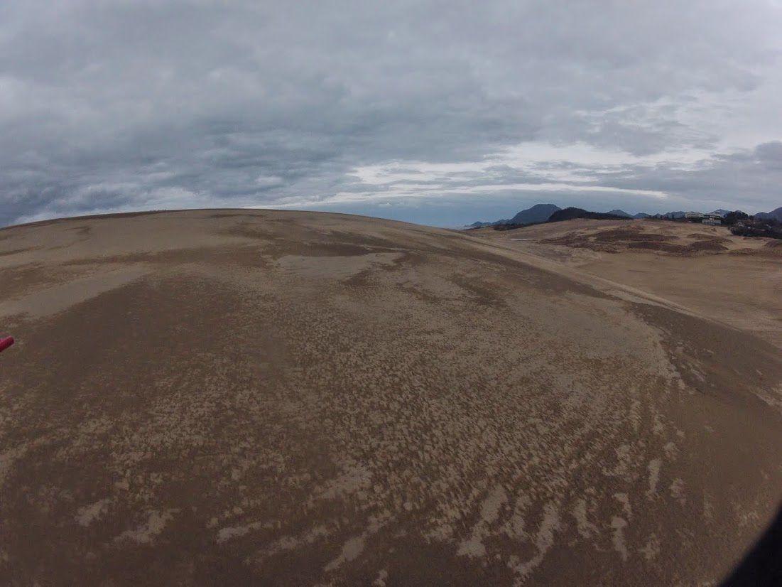 湿った砂地は乾いてきて
