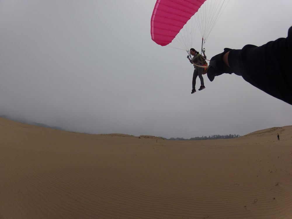 多少の強風でも、長く飛べるスタイル