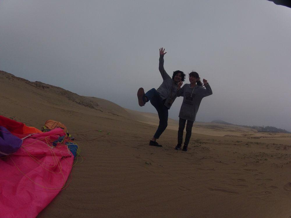 大阪から日帰りで鳥取砂丘のパラグライダー体験