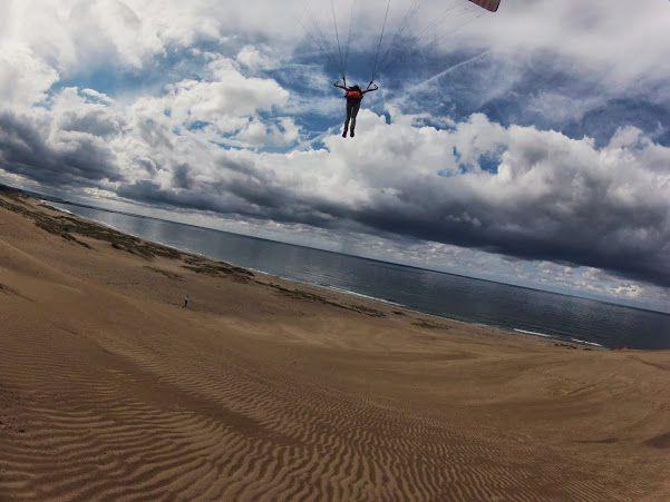 風紋がきれいな鳥取砂丘パラグライダー