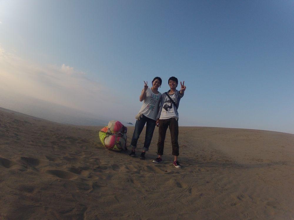 鳥取砂丘に来られた千葉からのカップルさん