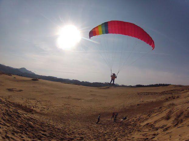 トーイングパラグライダー 鳥取砂丘