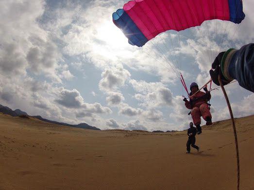トーイングパラグライダー鳥取砂丘