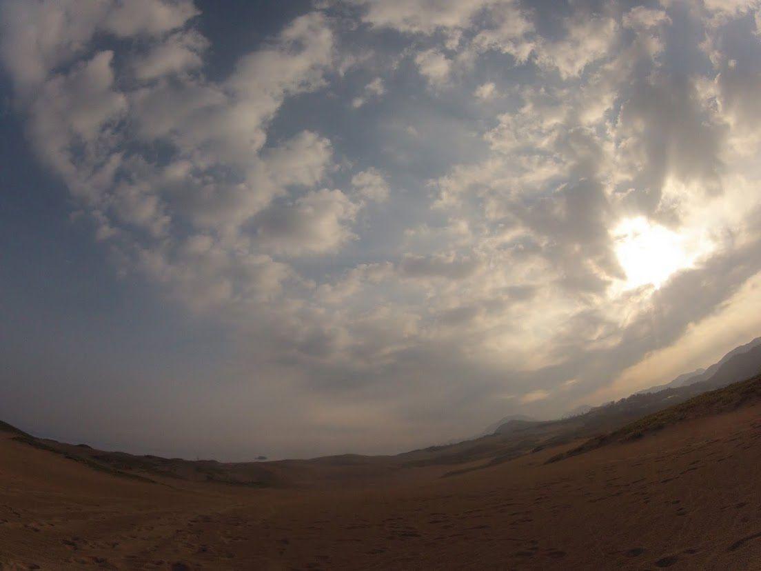早朝鳥取砂丘