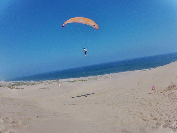 海の見えるポイント砂丘パラグライダー