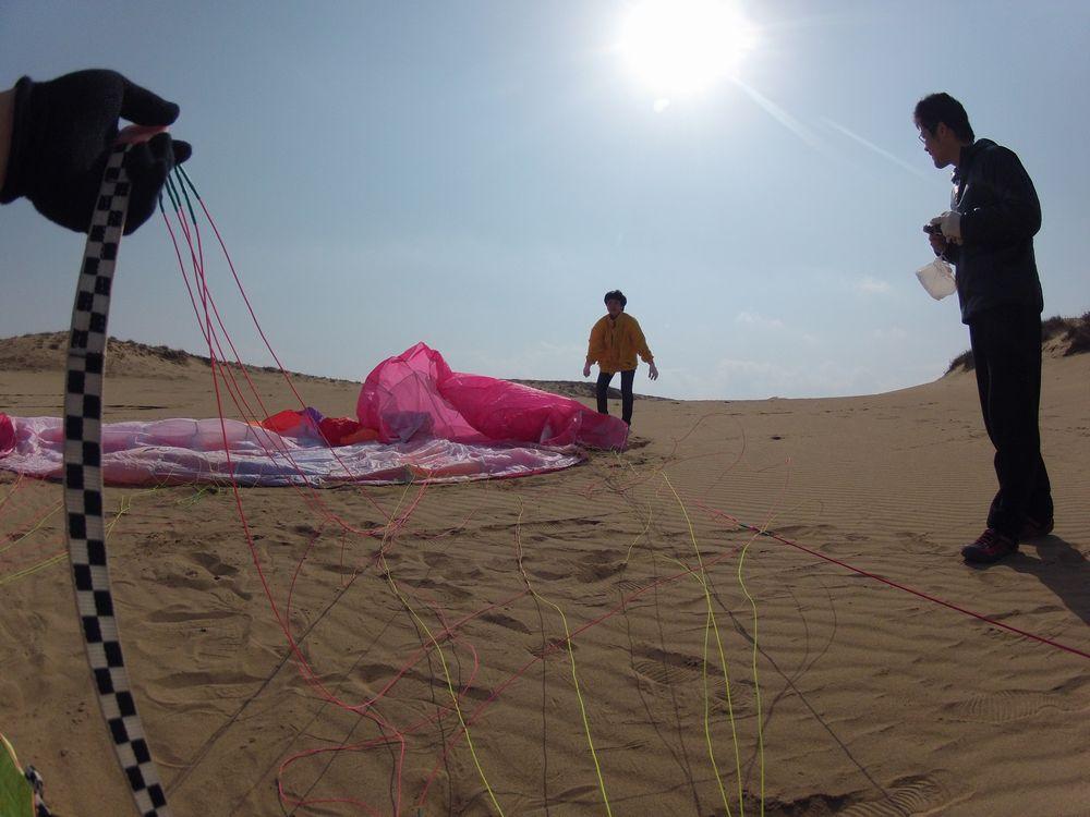 大阪と佐賀から鳥取砂丘のパラグライダー体験へ