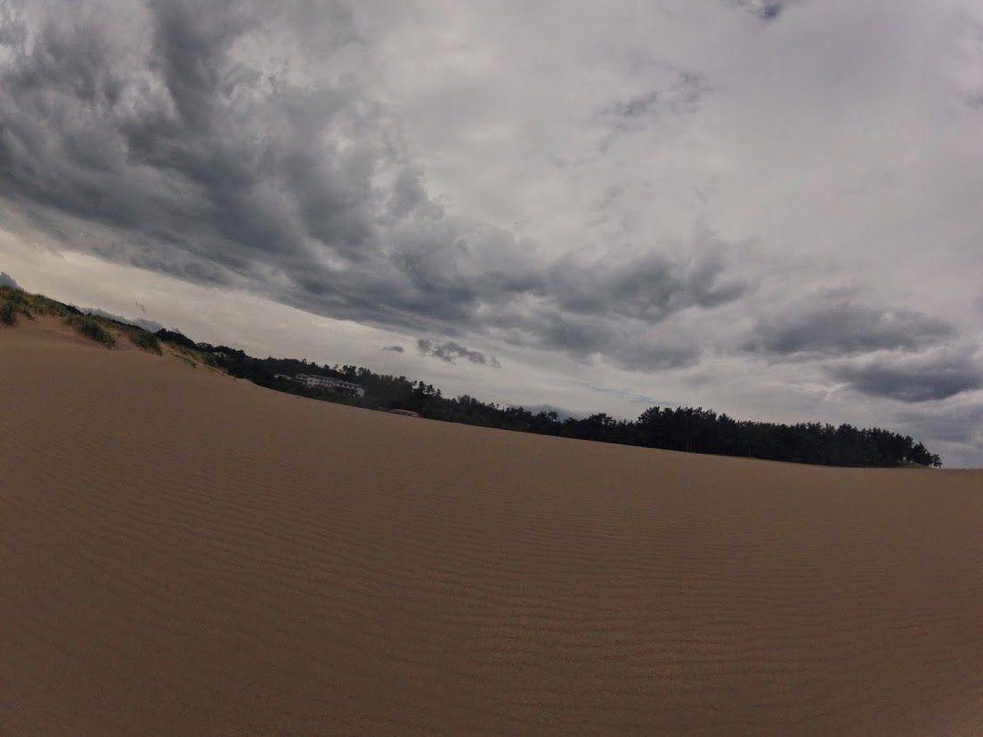 曇り空の南風