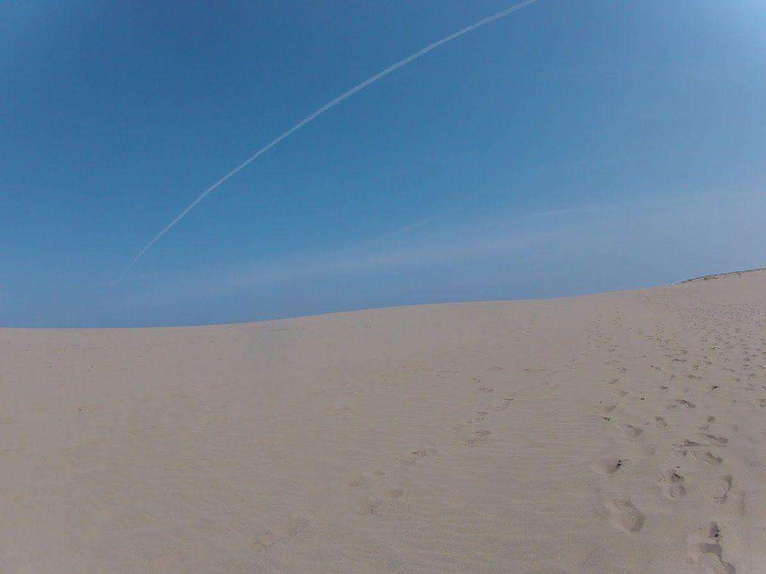 朝のうちは晴れていた砂丘