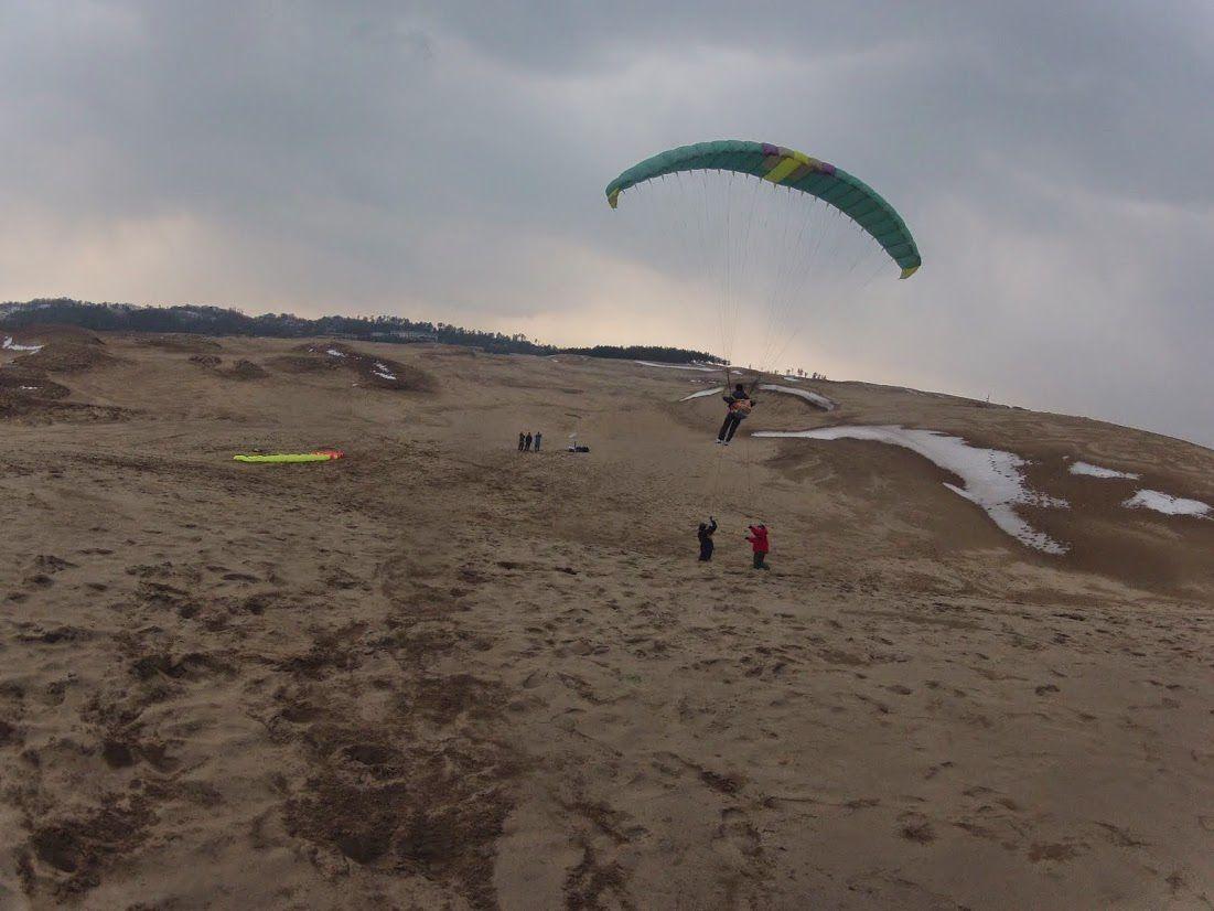 砂丘の空を存分に体感