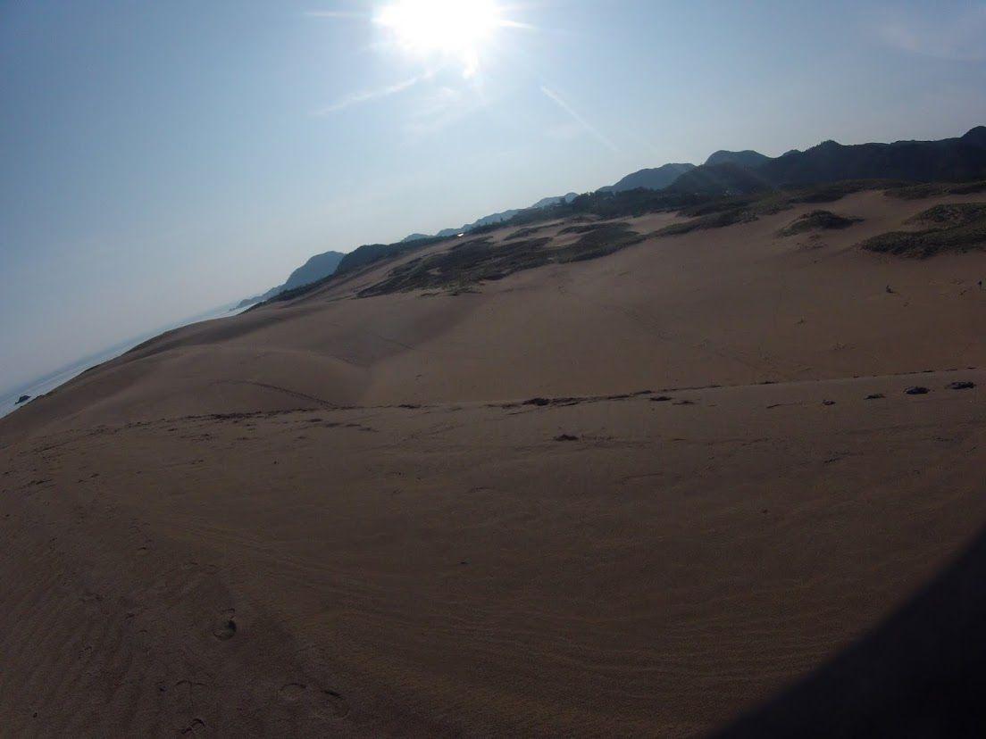 晴れた鳥取砂丘