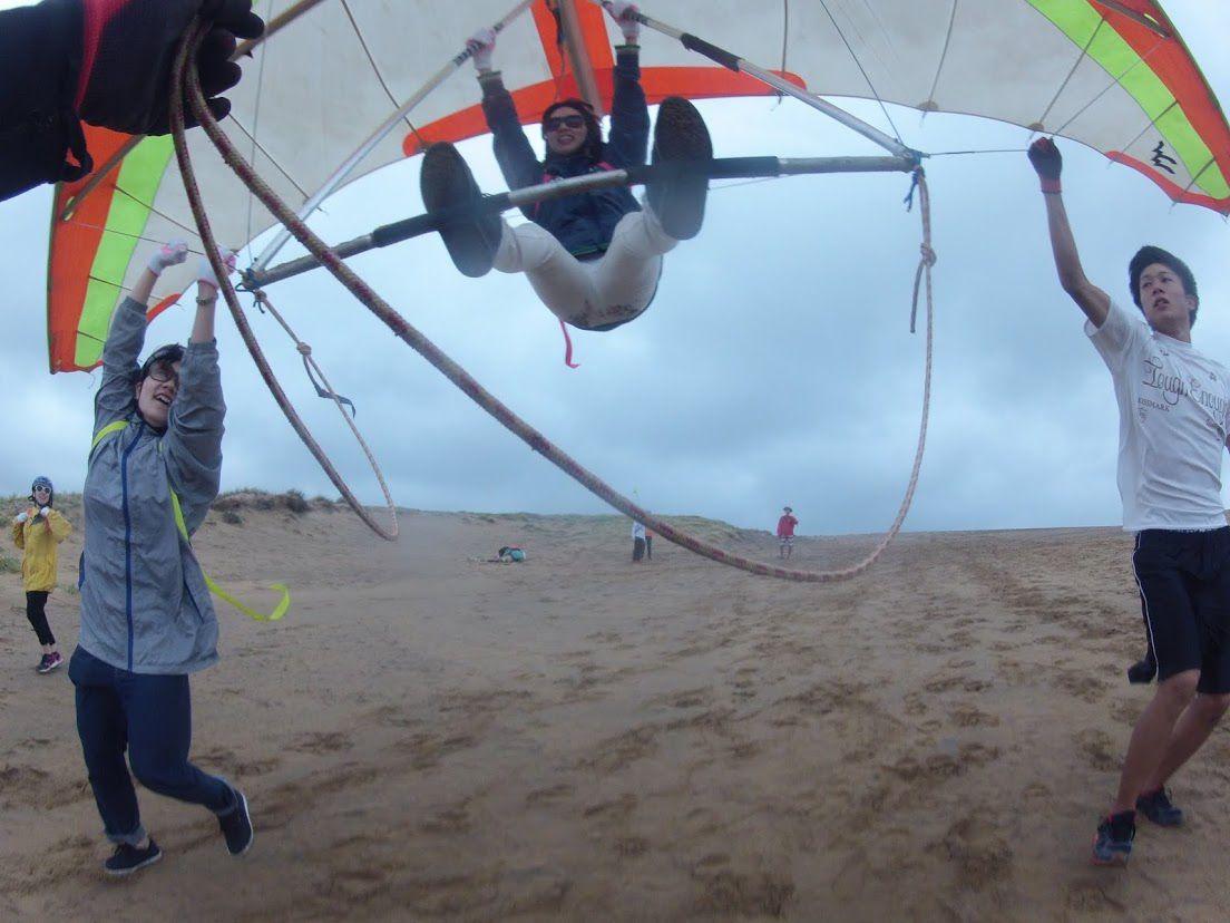 雨砂丘ハンググライダー