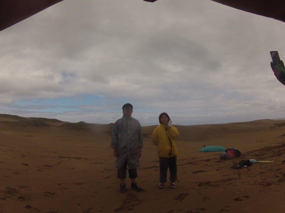 一人旅砂丘パラグライダー