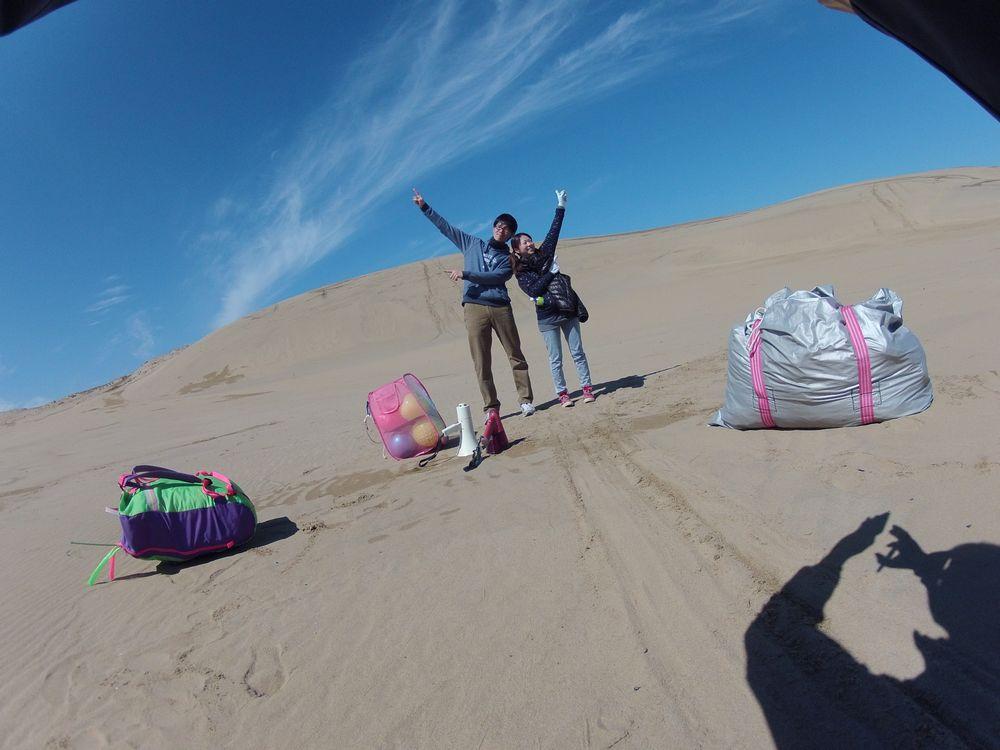 カップルで鳥取砂丘パラグライダー体験