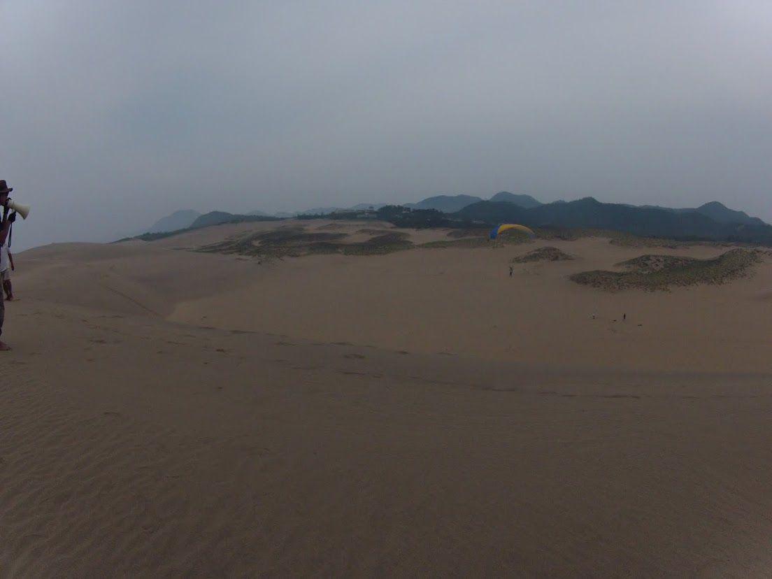 砂丘の中心に向かってGO