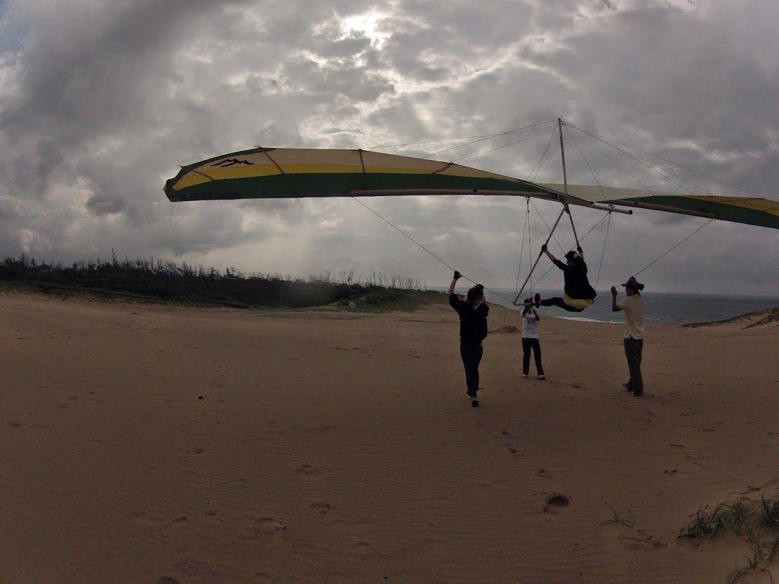 砂丘ハンググライダー
