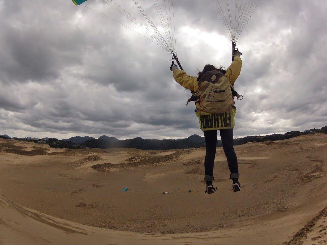 空の人砂丘パラグライダー
