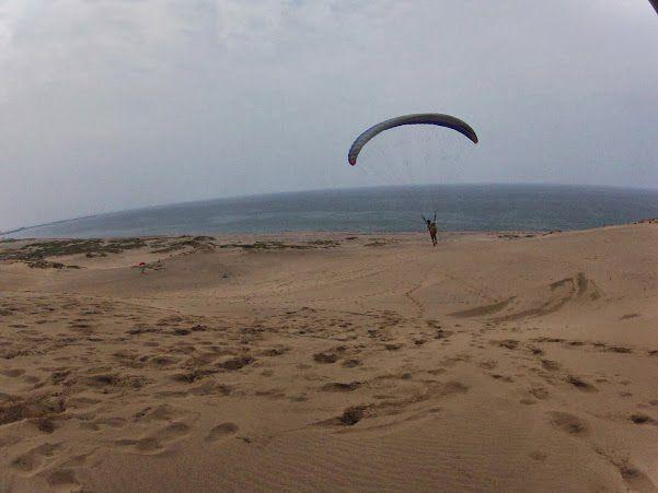 日本海 砂丘パラグライダー