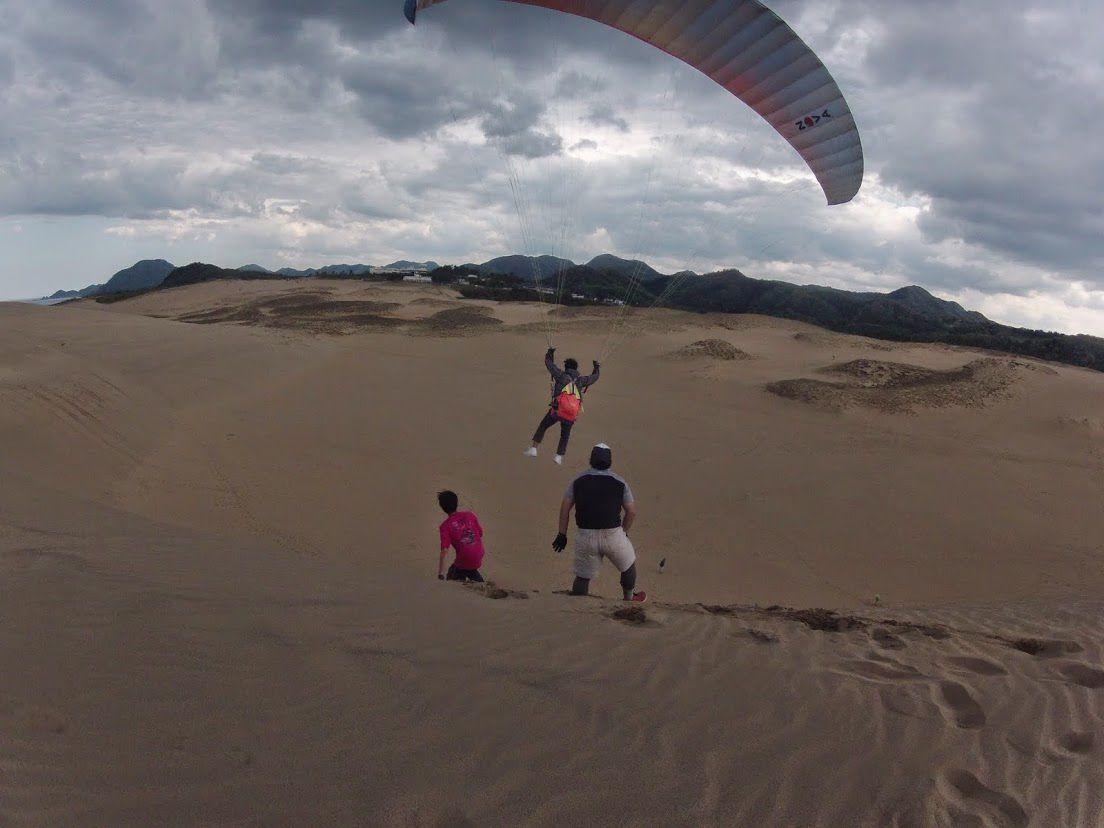 豪快に飛べそう鳥取砂丘