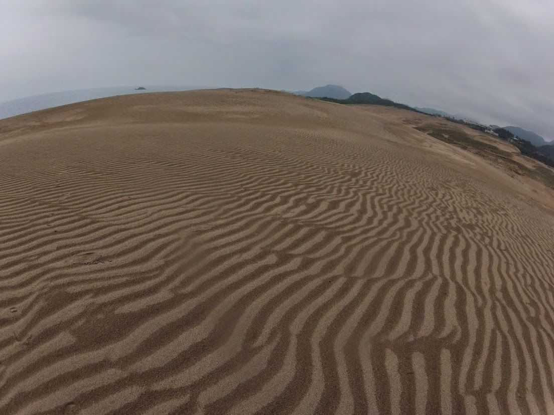 雲に覆われていた鳥取砂丘