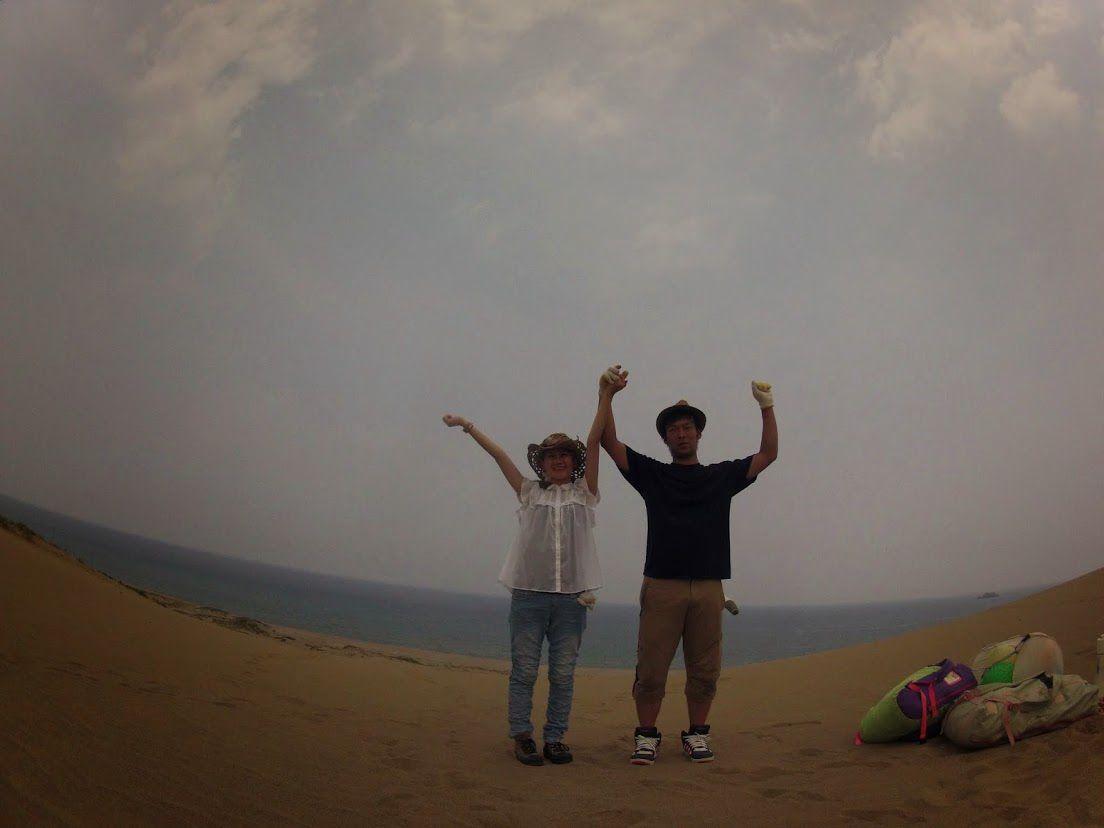 野球部砂丘パラグライダー