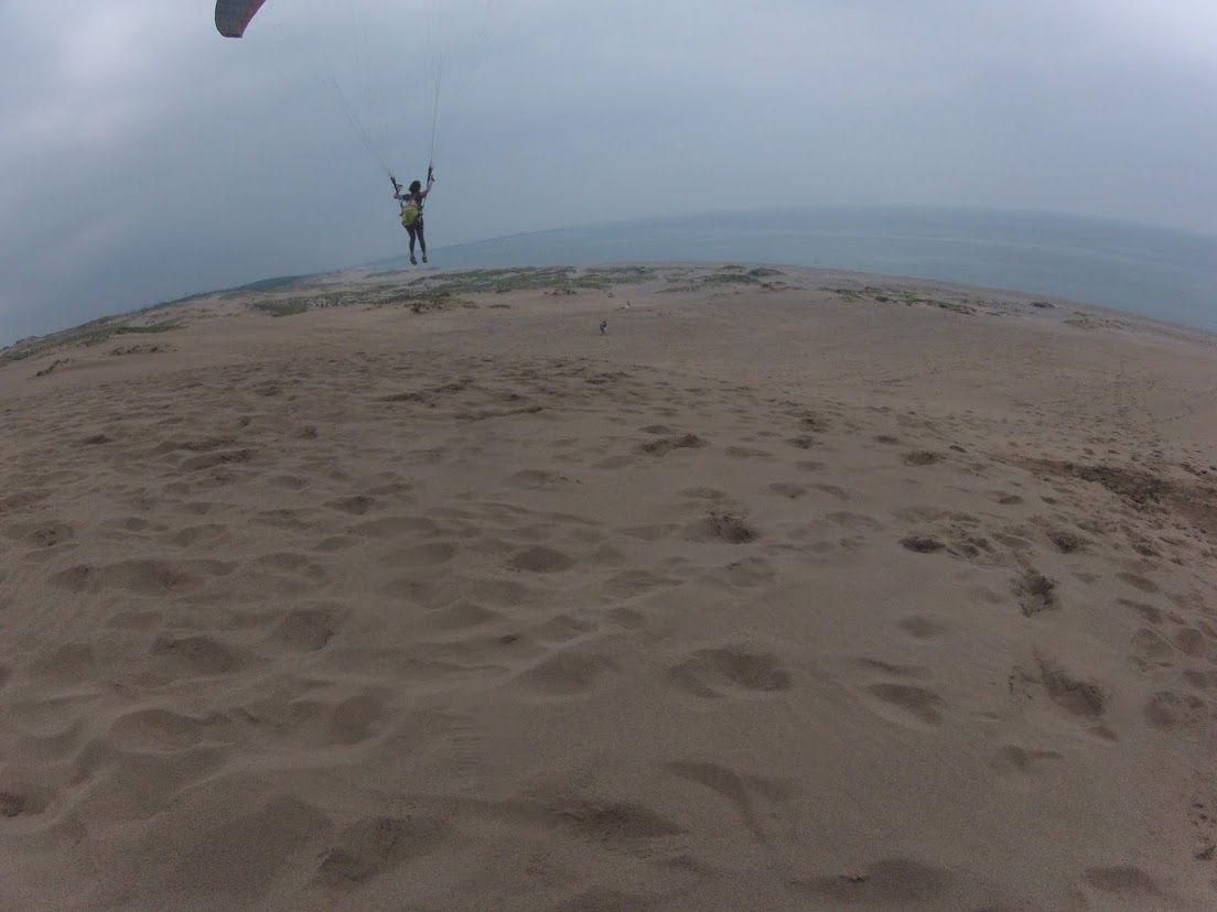 鳥取砂丘の上空を自在
