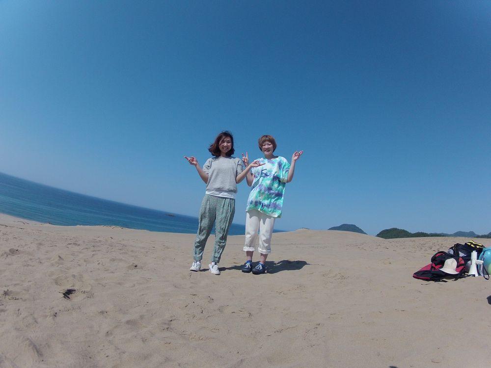 念願かなった鳥取砂丘の遊び