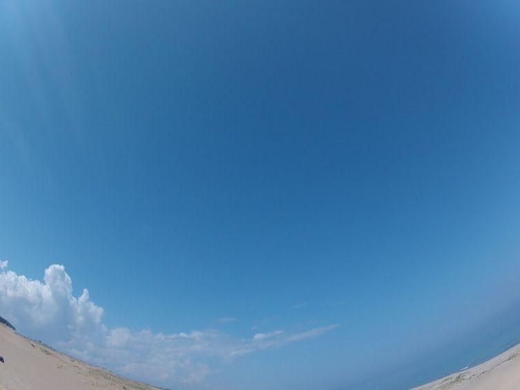 青空鳥取砂丘