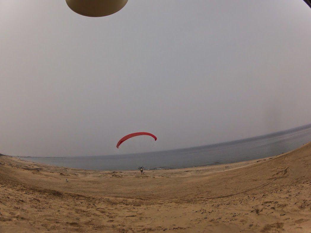 寸劇砂丘パラグライダー