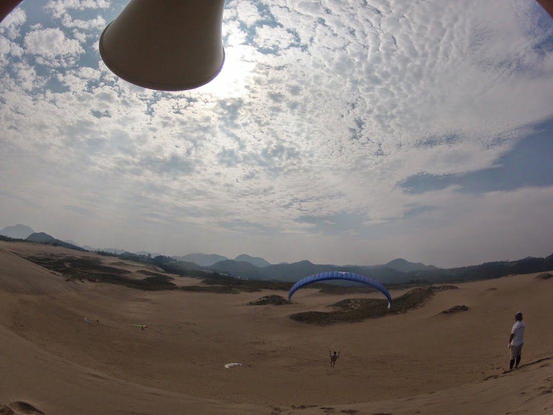 お父さん砂丘パラグライダー